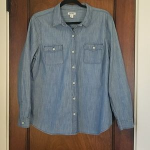 Old Navy Button Down Jean Top